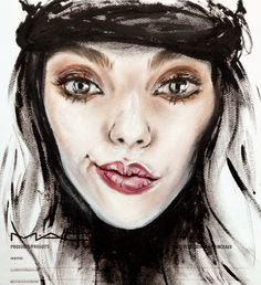MAC face chart by Amalia Bot Mac Face Charts, Pretty Face, Lip Gloss, Eyebrows, Halloween Face Makeup, Faces, Make Up, Lipstick, Photo And Video