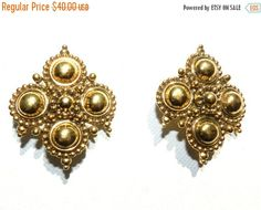 SPRING SALE Vintage Antique Jose Maria Barrera Fashion Earrings for Avon, Adriatic Collection, Fashion Jewelry, Designer, Vintage Jewelry