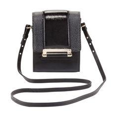 DVF black leather bag