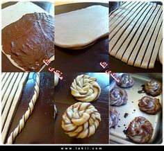 Değişik şekilli hamur modelleri - rumma.  twisted rolls. could use cinnamon sugar or nutella.  add cream cheese icing