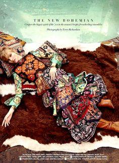Harper's Bazaar US March 2015 | Sasha Luss by Terry Richardson  Valentino