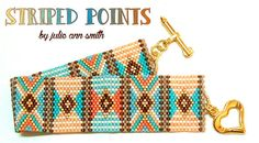 You are purchasing an ODD count peyote digital pattern....NOT THE ITEM IN THE PHOTO!!  I love making stripes with beads. Its almost like