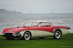 KHI stock photography and stock images of a space-age futuristic vintage 1956 Buick Centurion Concept Car. Luxury Sports Cars, Red Sports Car, Sport Cars, Weird Cars, Cool Cars, Buick Centurion, 1956 Buick, 1959 Cadillac, Chrysler Lebaron