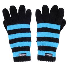Grenade Striped Knit Gloves Knitted Ribbed Cuff One Size Fits Most #Grenade #WinterGloves