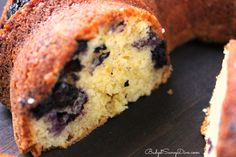 Blueberry Cream Cheese Pound Cake -light cream cheese does not affect the taste.