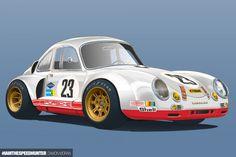 telodyne: My re-imagined Porsche 356 Porsche 356, Car Illustration, Illustrations, Racing Car Design, Thomas The Train, Cartoon Tv, Automotive Art, Concept Cars, Classic Cars