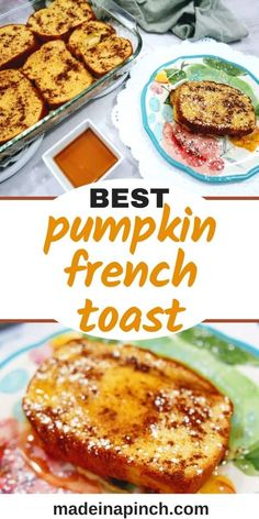 This Pumpkin French Toast Casserole is full of sugar and spice and everything fall. One of our favorite easy brunch recipes, it combines two favorite flavors into one perfect pumpkin dish! #pumpkinfrenchtoast #fallrecipes #pumpkinrecipes #brunchrecipes #pumpkin #frenchtoast   Made in A Pinch @madeinapinch