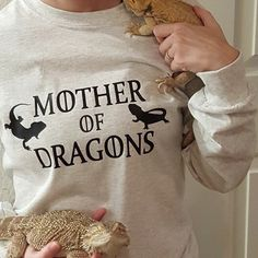 Mother of Bearded Dragons long sleeved shirt by PrincessStrong
