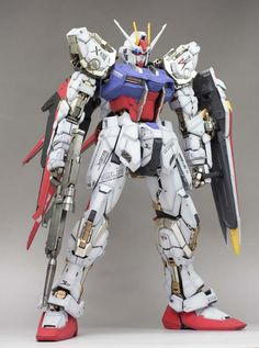 PG 1/60 Strike Gundam w/ Sword & Launcher Weapon System - Painted Build Modeled by T3