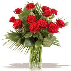 Unforgettable Dozen Red Roses is a stunning bouquet of flowers www.eden4flowers.co.uk
