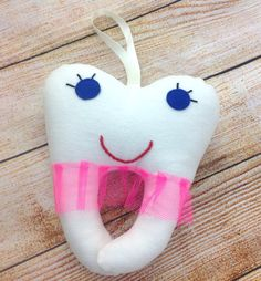 Hanging #Tooth Pillow, Tooth #Fairy Pouch, 1st Lost Tooth, Small Tooth Fairy Pillow   This small, hanging, tooth fairy pillow makes for a wonderful gift for kids.   This clev... #tooth #fairy