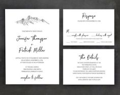 Marvelous Picture of Printable Wedding Invitation Templates Printable Wedding Invitation Templates Printable Wedding Invitation Template Set Mountain Wedding Free Printable Wedding Invitations, Free Wedding Invitation Templates, Mountain Wedding Invitations, Destination Wedding Invitations, Simple Wedding Invitations, Wedding Invitation Cards, Wedding Cards, Invitations Online, Rustic Invitations