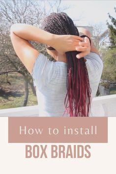 Hey there, in this video I'm showing you how I like to install my box-braids. This is the first time I ever installed box-braids on myself. Protective Hairstyles For Natural Hair, Natural Hair Growth, Natural Hair Styles, Black Women Hairstyles, Diy Hairstyles, Red Hair, Black Hair, Fashion Group, Hair Care Tips