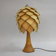 Beautiful Bedroom Wood Color Table Lamp Pine Cone Desk Light , Find  Complete Details About Beautiful