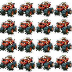 Monster Truck Birthday, Monster Party, Monster Trucks, Bolo Blaze, Blaze The Monster Machine, Cupcake Toppers Free, Monster Cupcakes, Holidays And Events, Party Time