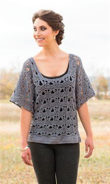 I love how casual yet classy this crochet tunic is. Lady Grey Tunic - Media - Crochet Me