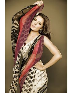 Saree with writings in Bengali on it