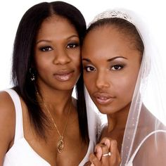 Wedding hair for black women, bride & bridesmaid