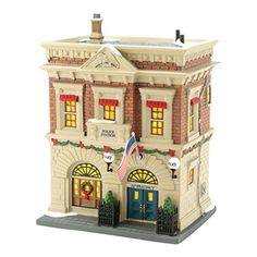 Department 56 Christmas in The City Village Precinct 56 Police Station Lit House 827Inch * Click image for more details.