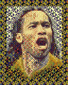 Didier Drogba: Côte d'Ivoire 2010 (Second mosaic illustration) by tsevis, via Flickr