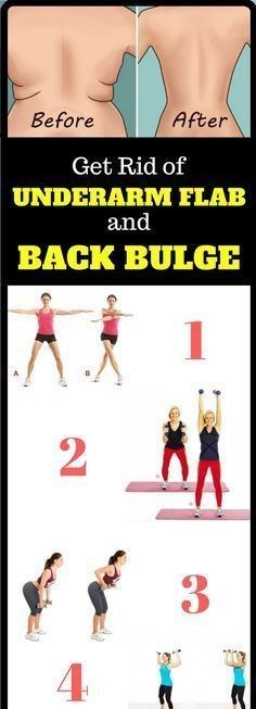 4 Quick Exercises to Get Rid of Underarm Flab and Back Bulge in 3 Weeks