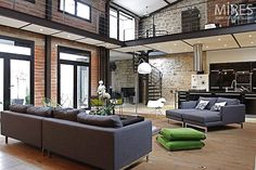 New York Loft Design - always wanted to live in a NY loft apartment. Loft Interiors, Industrial Interiors, Industrial House, Vintage Industrial, Industrial Style, Lofts, New York Loft, Ny Loft, Loft Spaces