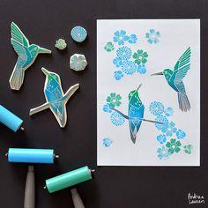 Andrea Lauren: Block Printing Stamps by Andrea Lauren
