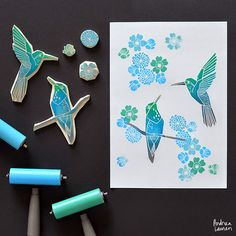 Block Printing Stamps by Andrea Lauren