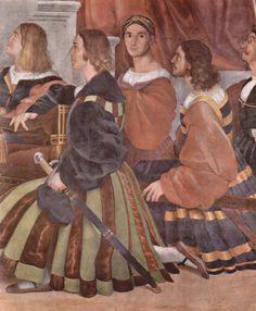 Stanza di Eliodoro im Vatikan für Papst Julius II., Wandfresko, Szene: Messe von Bolsena, Detail Date1512