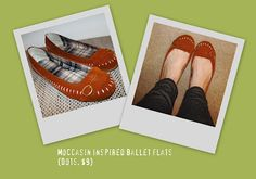 New shoes <3 Moccasin inspired ballet flats