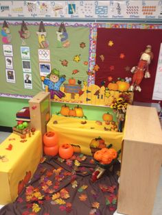 My pumpkin patch with a little bit of apple orchard thrown in for dramatic play :)