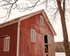 Red Barn Photography, Rustic Photography, Rural Decay, Abandoned Barn, Farmhouse Decor, Cottage Decor, Country, Cottage Chic, Nature