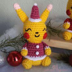Pikachu navideño patrón gratis  #pikachu #amigurumipattern