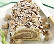 Chocolate-Hazelnut Filling and Whipped-Cream Frosting