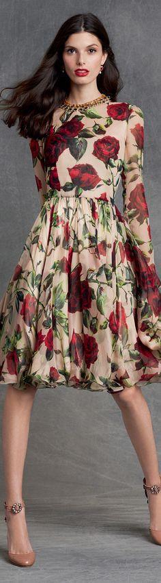 rose. Dolce & Gabbana winter 2016 ✿⊱╮