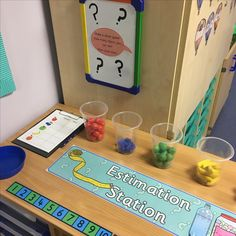 Interactive maths display - estimation station