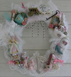 """I had to make another """"Marie Antoinette"""" wreath. This one is different than the other, but just as lush and lovely. I hope you all enjoy looking at it. It is available in my shop: treasuredheirlooms.net."""