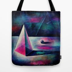 Into the matrix Tote Bag by FUKU & S.Borkowska - $22.00