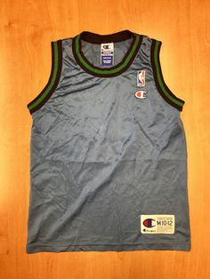 00f12e9b3 Vintage 1996 - 1998 Minnesota Wolves Blank Champion Jersey Size Youth M stephon  marbury latrell sprewell terrell brandon kids nba shirt hat
