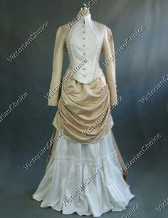 Victorian+Edwardian+Downton+Abbey+Titanic+Bustle+Dress+Period+Gown+Riding+Habit+Theatre+Costume