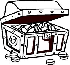 1000 images about coloring pages on pinterest coloring for Pirate treasure chest coloring page