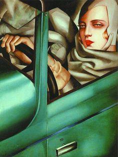 Polish painter Tamara de Lempicka Self-Portrait in the Green Bugatti 1925 #womensart http://pic.twitter.com/5k6685893E   womens art (@womensart1) April 24 2017
