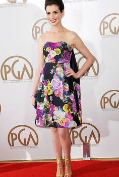 "annehathaway: ""Anne Hathaway attends 24th Annual Producers Guild Awards (January 27, 2013) """