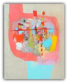 "Abstract Painting, Modern Wall Art, Contemporary wall art , Abstract Art on Canvas, Original Painting- ""Enough"" by Christina Romeo"