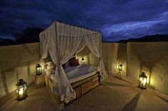 What a romantic bed, and we are Relais Châteaux