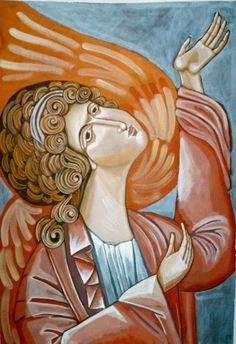 Angel icon - contemporary