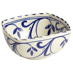 Azul Scroll Square Serving Bowl