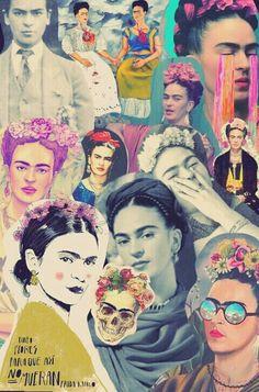 ACTIVIDAD: Ideas para hacer un Collage en la clase de Espanol acerca de Frida Kahlo o de otro artitsta hispanoamericano.