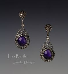 These are simple and classic woven bezel ear rings, for the book I am writing. --Lisa Barth