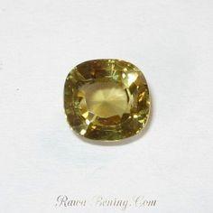 Zircon Cushion Yellow Brownish 2.52 carat